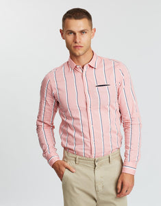 SCOTCH & SODA Regular Fit Classic Shirt - Pink Stripe