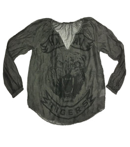 Rude Riders, Tiger Blouse, Grey