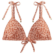 Load image into Gallery viewer, LOVE Stories, Uma Bikini Top, Peachy Coral