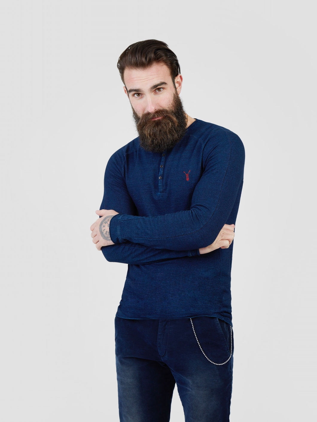 Pearly King, Whick Long-Sleeve Top, Indigo Blue