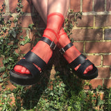 SALE Cynthia Red Sheer Socks - More Colours - Cherrylingerie
