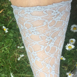 Emiko Victoriana Grey Lace Socks - More Colours - Cherrylingerie