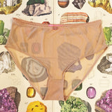 Naomi Natural Calcite Nude Sheer Knickers - Curiosities Crystals Collection