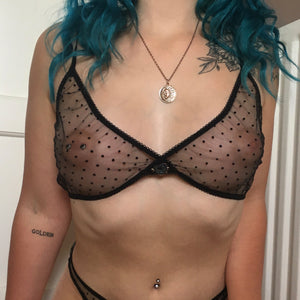 Ophelia Onyx Black Bralette - Curiosities Crystals Minerals Collection
