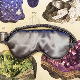 Lingerie Gift Box - Olivia Ore Silver & Black Bralette, Knickers and Silk Sleep Eye Mask Set - Curiosities Crystals Collection
