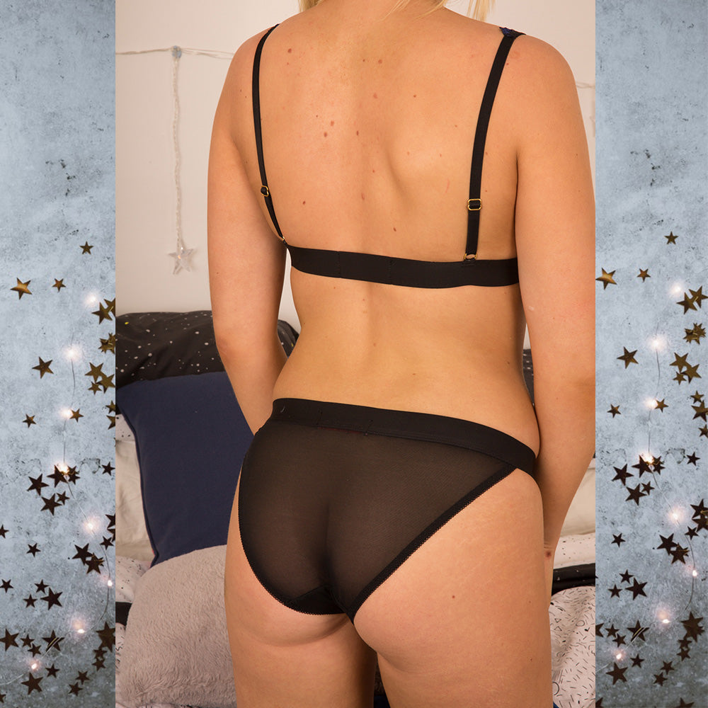 Astrid Stars System Black Bra -  Celestial Beauty Collection - More Colours - Cherrylingerie