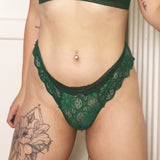 Vivienne Vesuvianite Green Knickers - Curiosities Crystals Collection