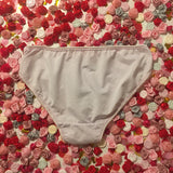 SALE Vida Red Sequin Heart Sheer Light Pink Lace Knickers - Cherrylingerie