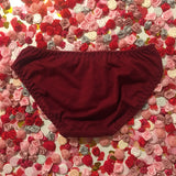 SALE Rose Red Sequin Heart Red Knickers - Cherrylingerie