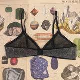 Olivia Ore Silver & Black Bralette - Curiosities Crystals Collection