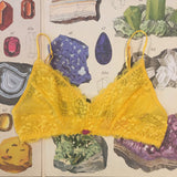 Lingerie Gift Box - Alexa Amber Yellow Bralette, Knickers & Silk Sleep Eye Mask Set - Curiosities Crystals Collection