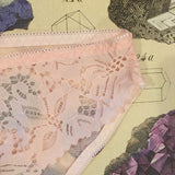 Penelope Pink Calcite Lace Knickers - Curiosities Crystals Collection
