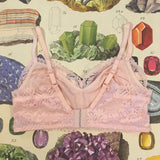 Penelope Pink Calcite Lace Bralette & Knickers Set - Curiosities Crystals Collection