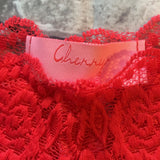 SALE Cherry Red Cheeky Lace Knickers - More Colours - Plus Size Available - Cherrylingerie