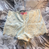 SALE Cherry Black Cheeky Lace Knickers - More Colours - Plus Size Available - Cherrylingerie