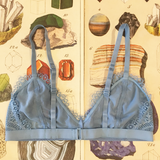 Quentina Quartz Turquoise Bralette & Knickers Lingerie Set - Curiosities Crystals Minerals Collection
