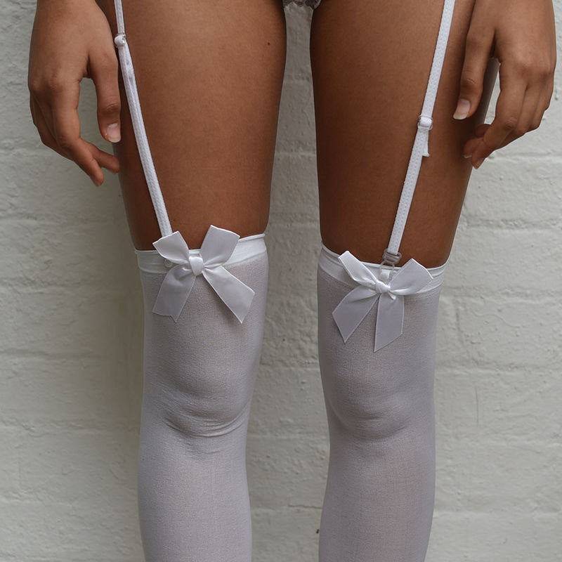 Emiko Victoriana Thigh High Stockings - Sheer Kawaii Collection - Plus Size Available - Cherrylingerie