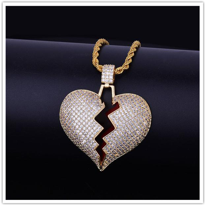 Iced Out Broken Heart - Be Easy Trendy