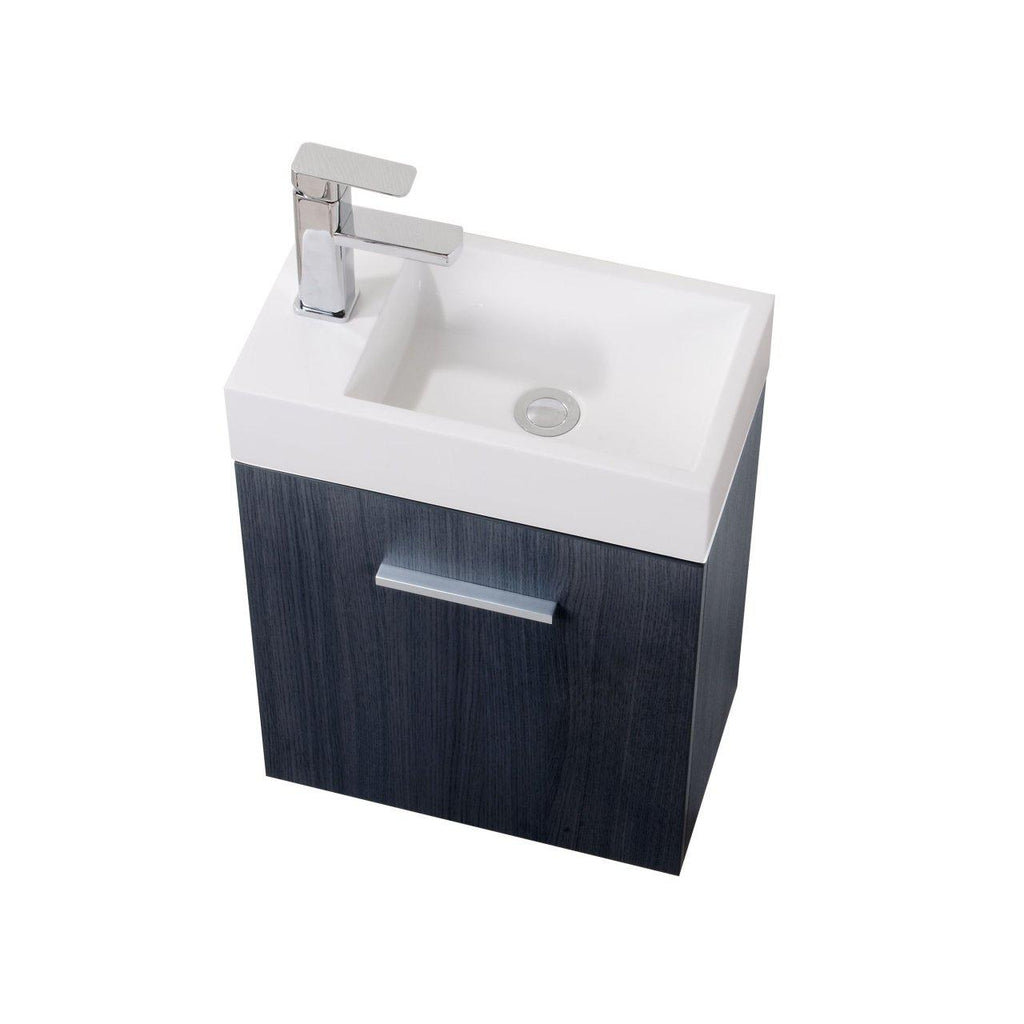 "KubeBath Bliss 18"" Gray Oak Floating Vanity - The Modern Vanity"