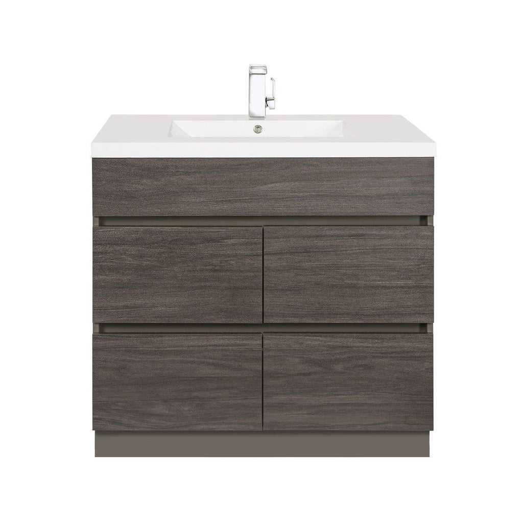 Cutler Kitchen & Bath Boardwalk 36 in. Handless Bathroom Vanity-Cutler Kitchen & Bath-Karoo Ash-themodernvanity