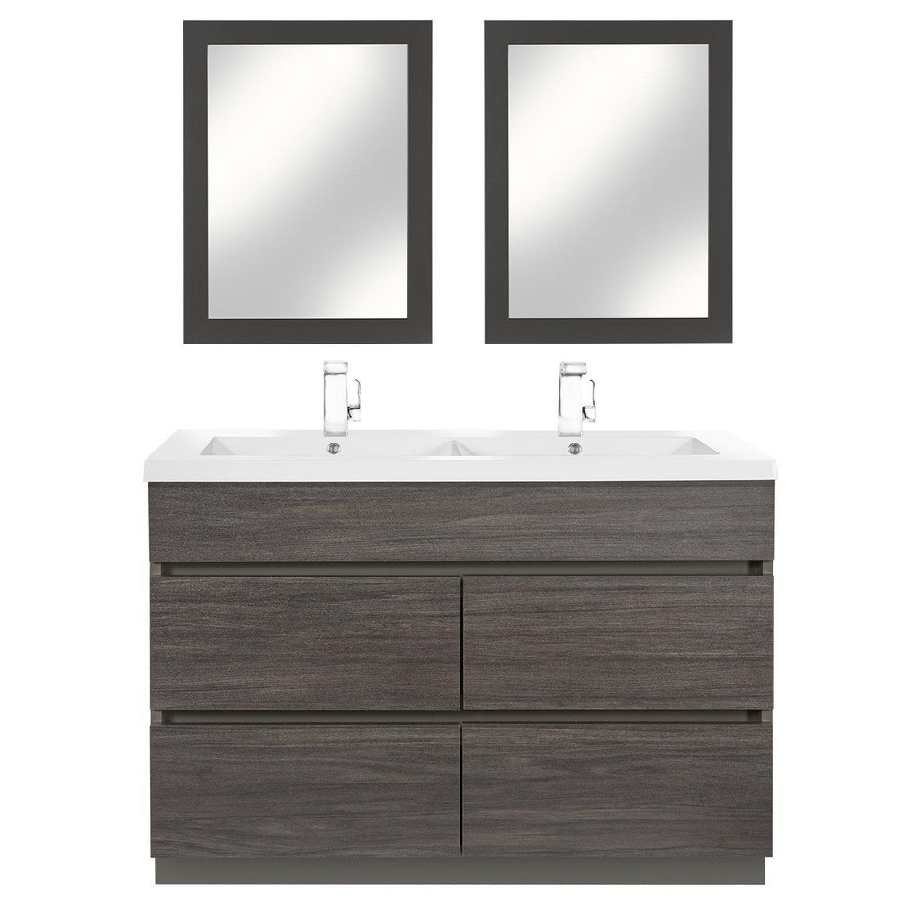 Cutler Kitchen & Bath Boardwalk 48 in. Handless Double Bathroom Vanity-Cutler Kitchen & Bath-themodernvanity
