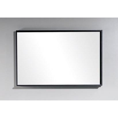 "Bliss 44"" Framed Mirror With Shelf- High Gloss Gray Oak Finish"