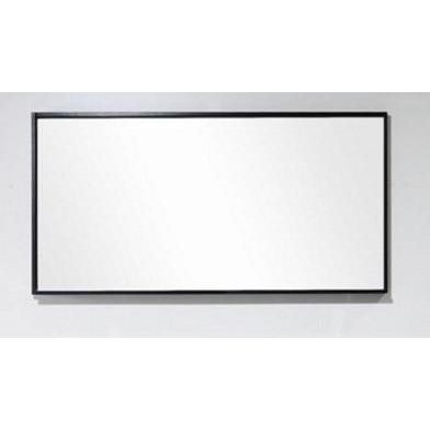 "Bliss 55"" Framed Mirror With Shelf- Black Wood Finish"