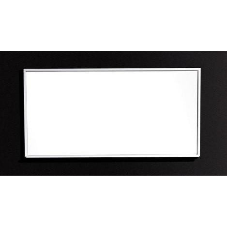 "Bliss 55"" Framed Mirror With Shelf- Gloss White Finish"