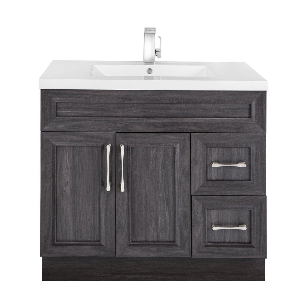 Cutler Kitchen & Bath Classic Transitional 36 in. Bathroom Vanity-Cutler Kitchen & Bath-Karoo Ash-themodernvanity