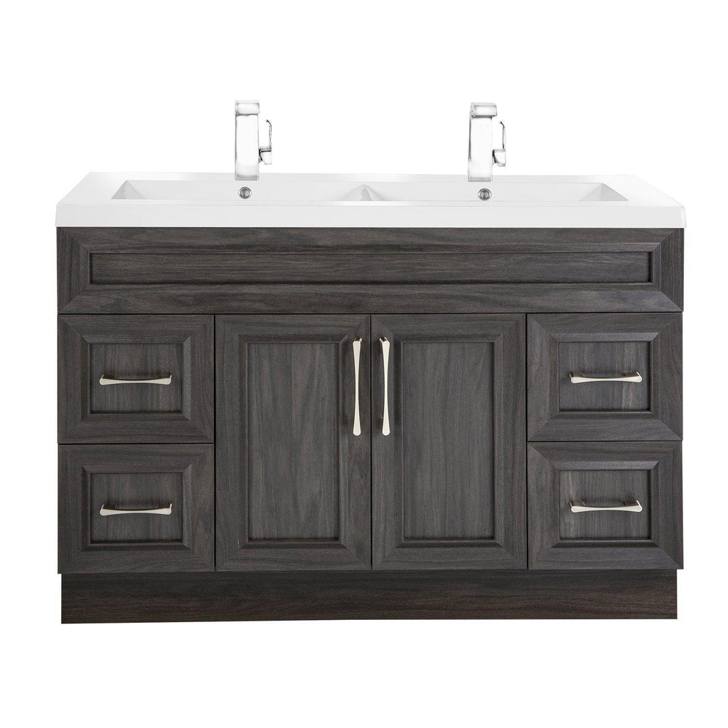 Cutler Kitchen & Bath Classic 48 in. Transitional Double Bathroom Vanity-Cutler Kitchen & Bath-Karoo Ash-themodernvanity