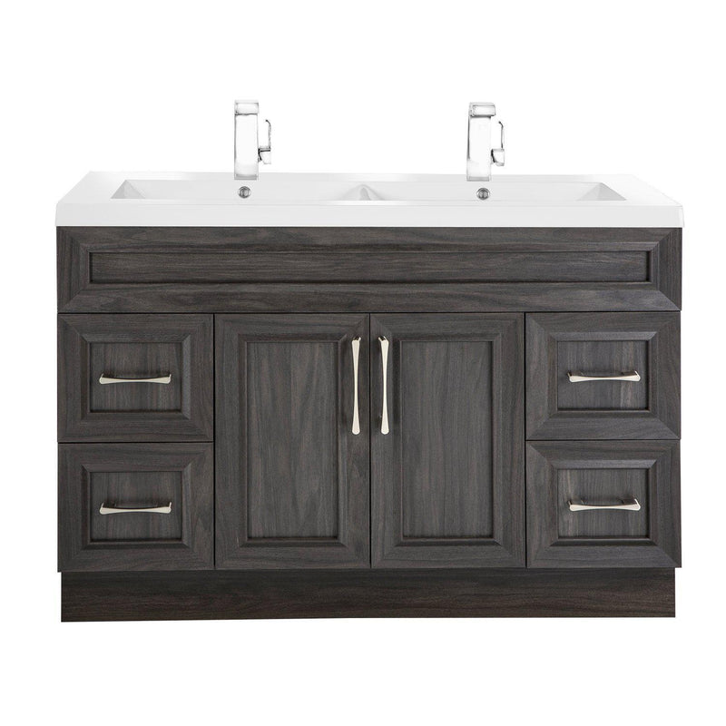 "KubeBath Bliss 48"" Walnut Floating Vanity"