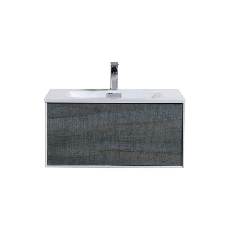 "KubeBath Divario 30"" Ocean Gray Floating Vanity - The Modern Vanity"