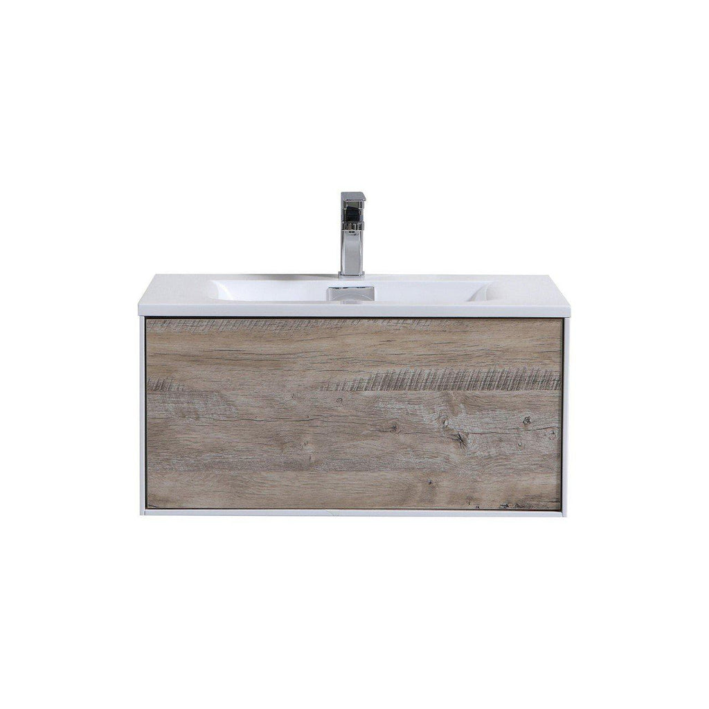 "KubeBath Divario 30"" Nature Wood Floating Vanity - The Modern Vanity"