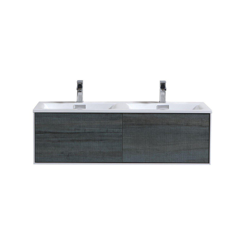 "KubeBath DeLusso 48"" Single Sink Nature Wood Floating Vanity"