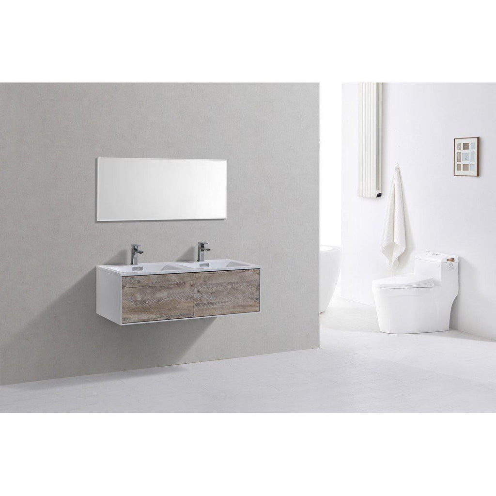 "KubeBath Divario 48"" Nature Wood Floating Vanity"