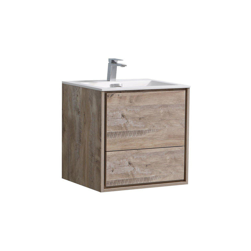 "KubeBath DeLusso 24"" Nature Wood Floating Vanity - The Modern Vanity"