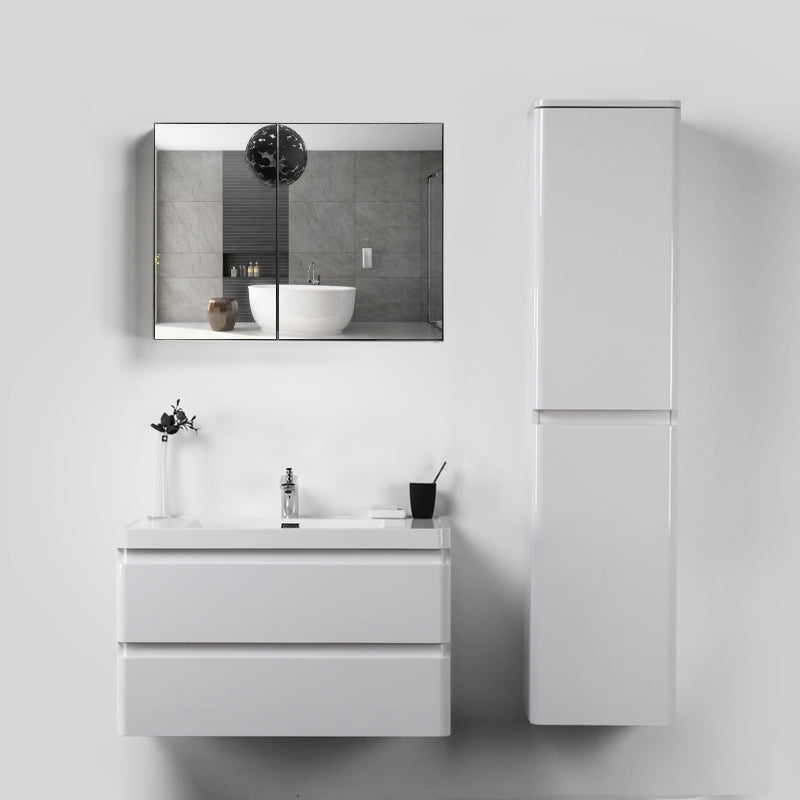Eviva Glazzy Glossy White 16 inch wall mount side cabinet.