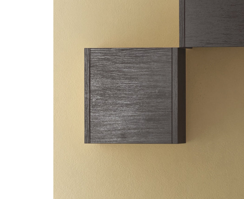 "Eviva Escorpio 14"" Wenge Modern Bathroom Side Cabinet Wall Mount"