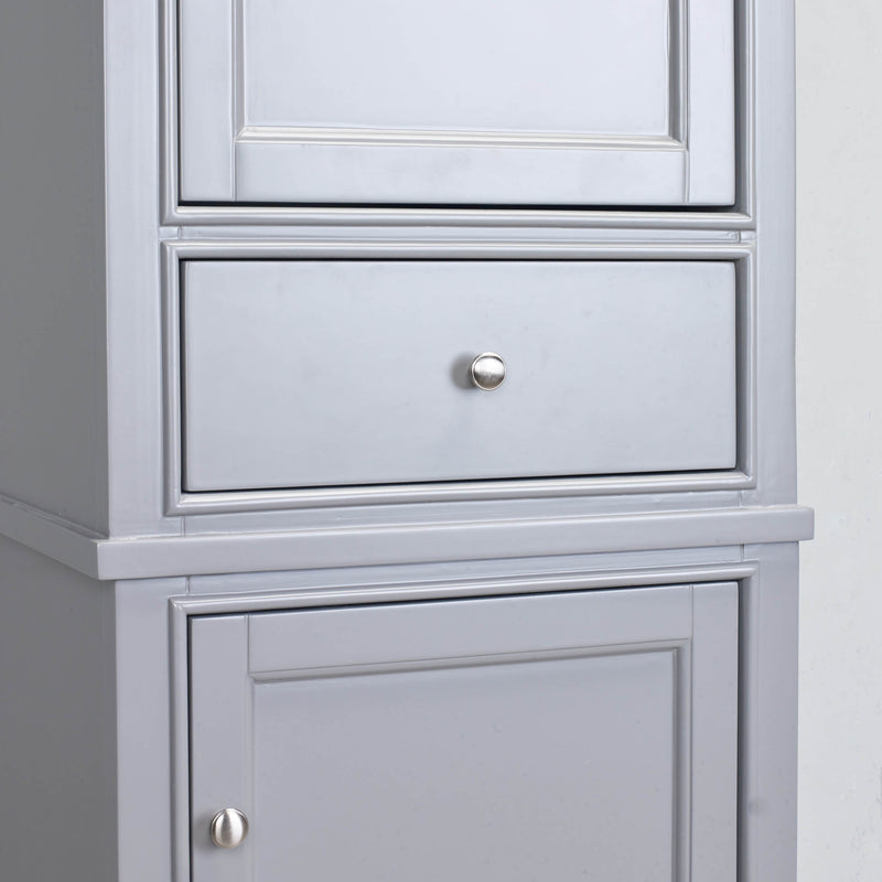 "Eviva Elite Stamford 24"" Grey Solid Wood Side/Linen Bathroom Cabinet"