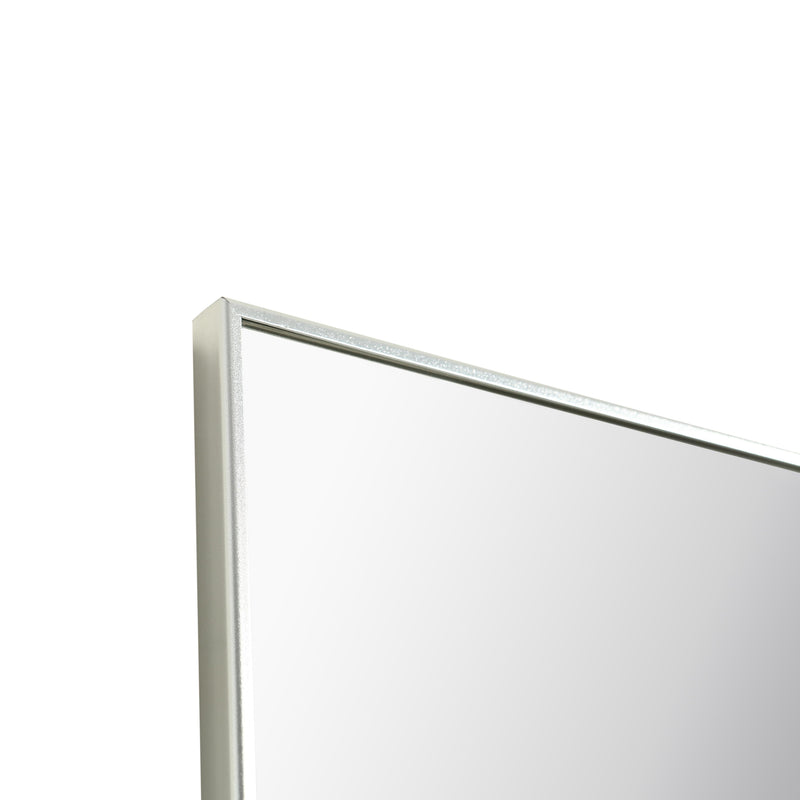 "Eviva Sax 60"" Chrome Metal Frame Bathroom Wall Mirror"
