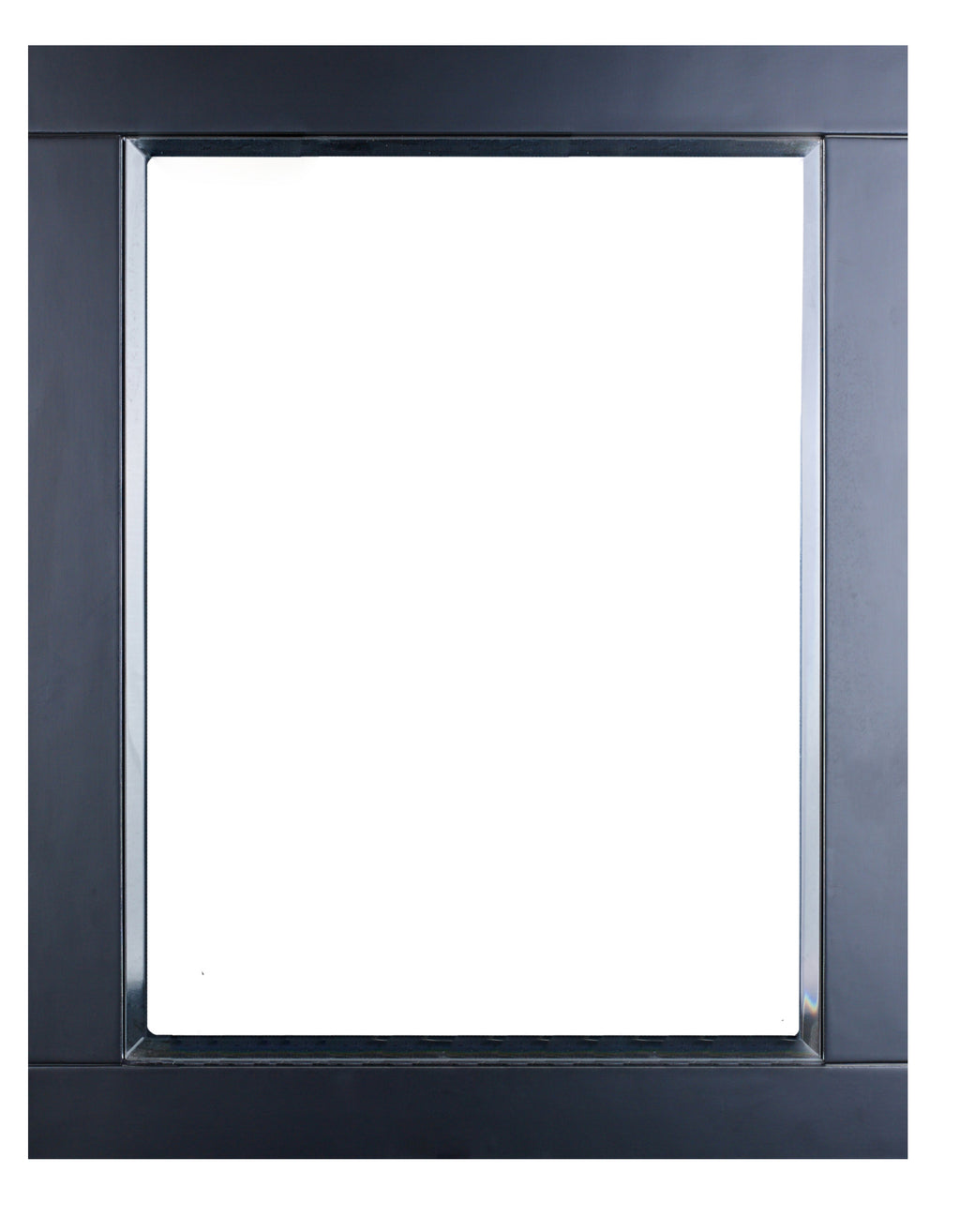 "Eviva Aberdeen 24"" Espresso Framed Bathroom Wall Mirror"
