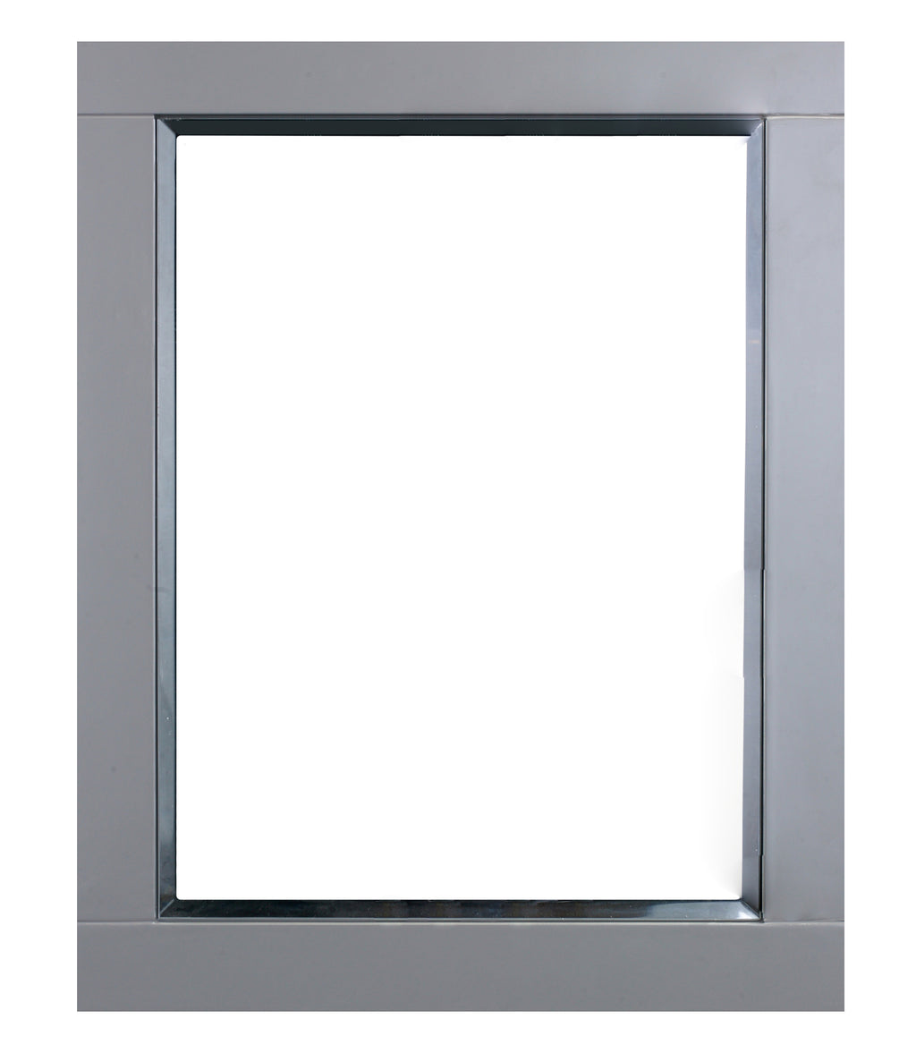 "Eviva Aberdeen 24"" Grey Framed Bathroom Wall Mirror"