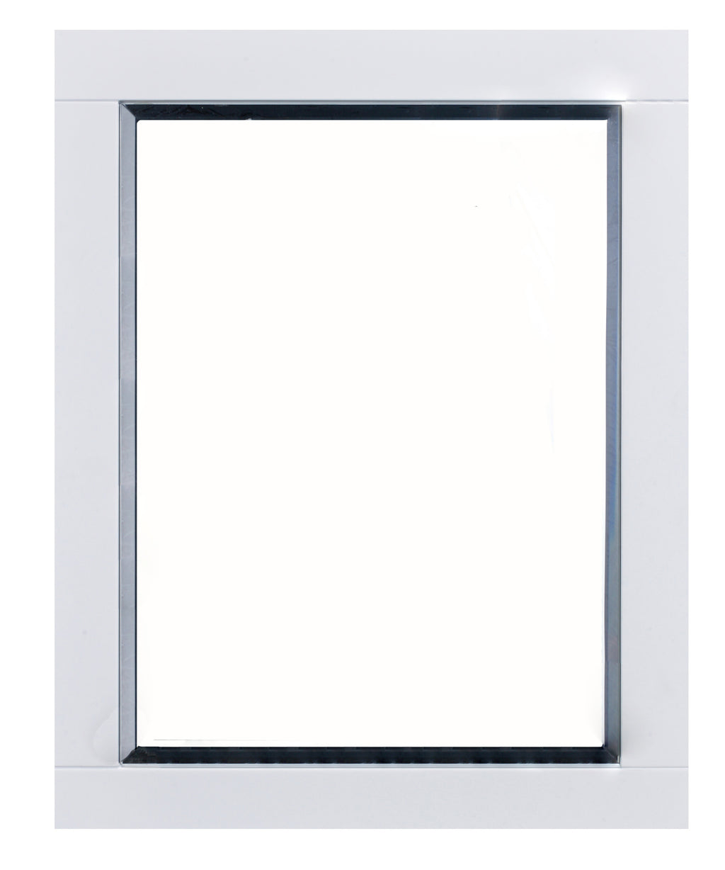 "Eviva Aberdeen 24"" White Framed Bathroom Wall Mirror"