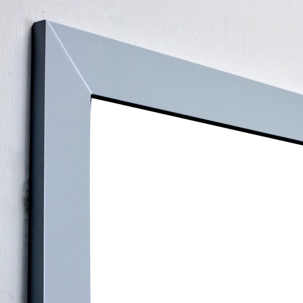 "Eviva Aberdeen 30"" Grey Framed Bathroom Wall Mirror"