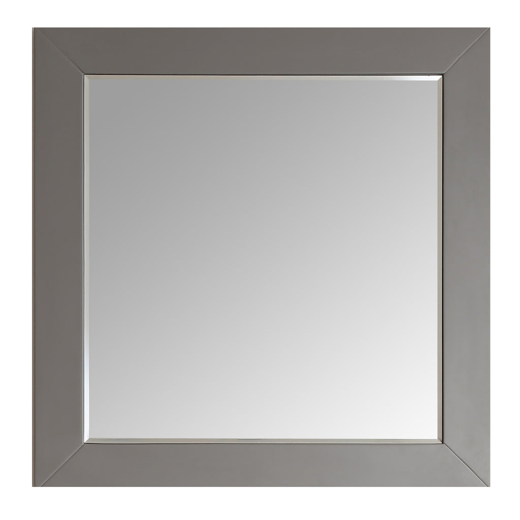 "Eviva Aberdeen 36"" Grey Framed Bathroom Wall Mirror"
