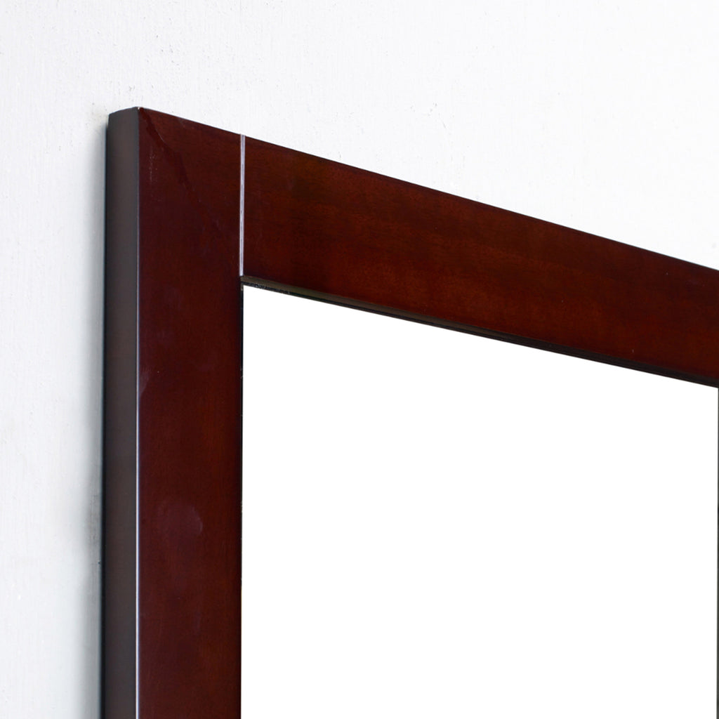 "Eviva Aberdeen 36"" Teak Framed Bathroom Wall Mirror"