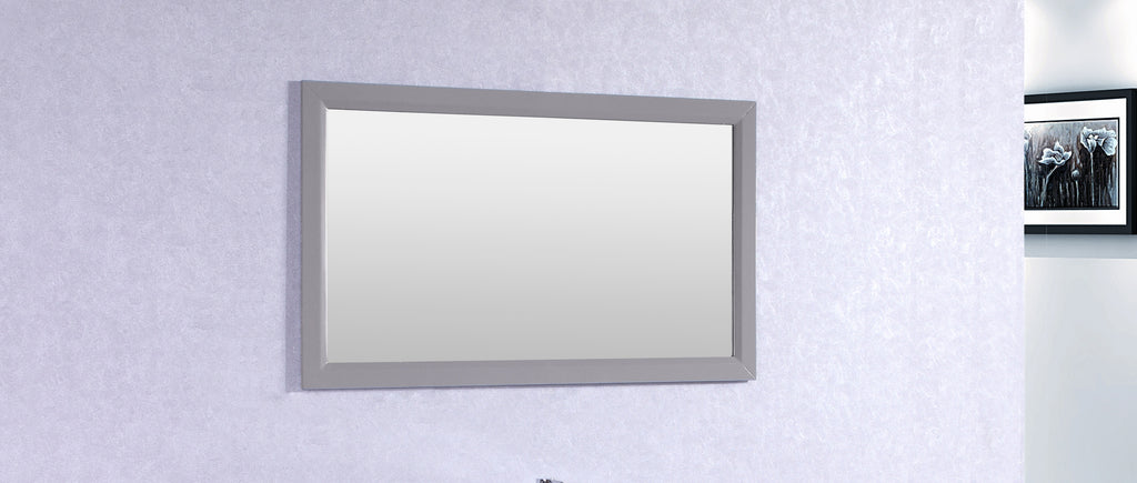 "Eviva Aberdeen 48"" Grey Framed Bathroom Wall Mirror"