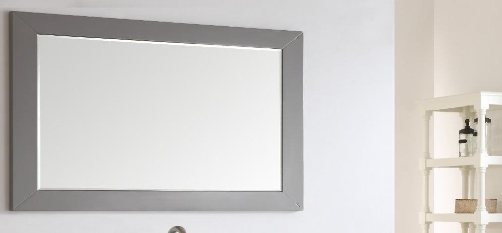 "Eviva Aberdeen 60"" Grey Framed Bathroom Wall Mirror"