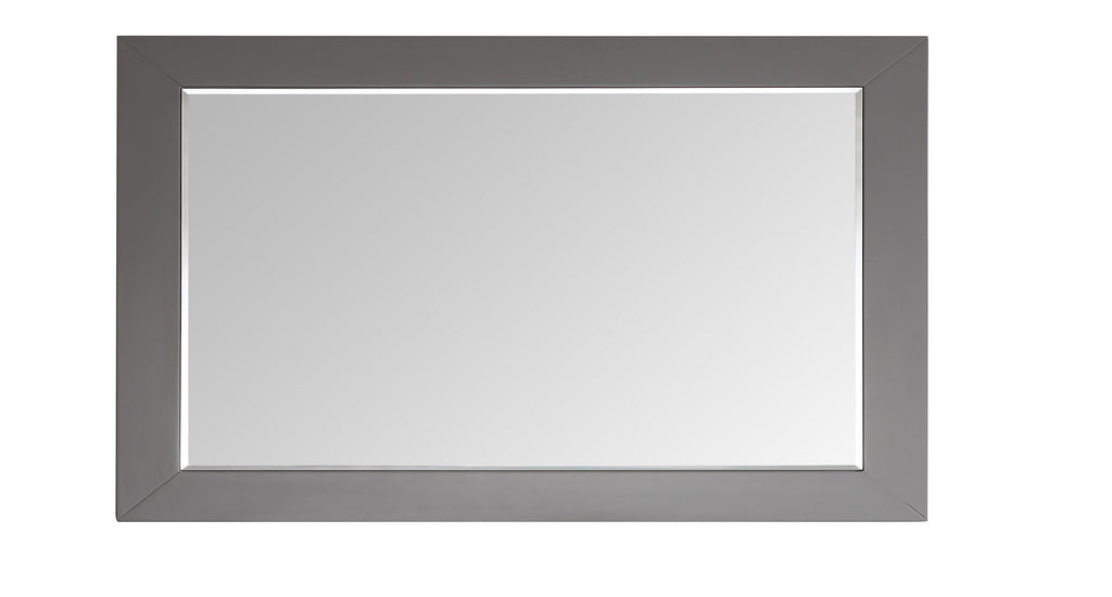 "Eviva Aberdeen 72"" Gray Framed Bathroom Wall Mirror"