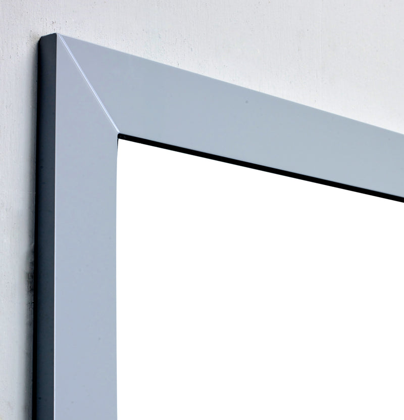 Eviva New York Bathroom Vanity Mirror Full Frame Grey 48X31 Wall Mount